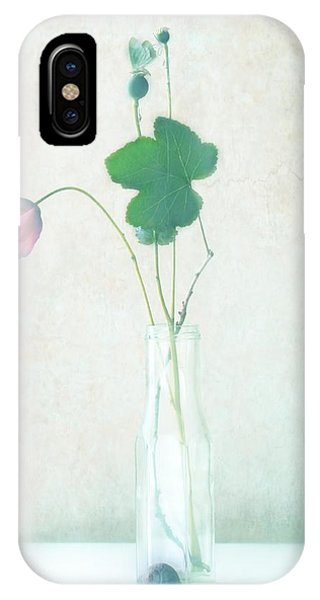 Pink Flower iPhone Case - The Pink Flower by Delphine Devos
