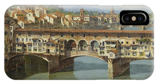 IPhone Case featuring the painting The Ponte Vecchio Florence by Celestial Images