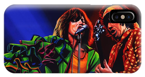 Rock And Roll Art iPhone Case - The Rolling Stones 2 by Paul Meijering