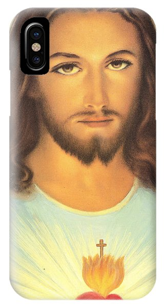 Messiah iPhone Case - The Sacred Heart Of Jesus by French School