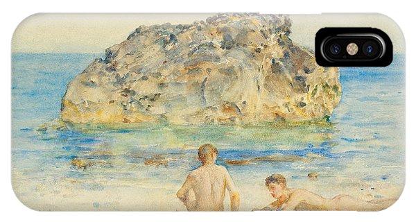 Sunbather iPhone Case - The Sunbathers by Henry Scott Tuke