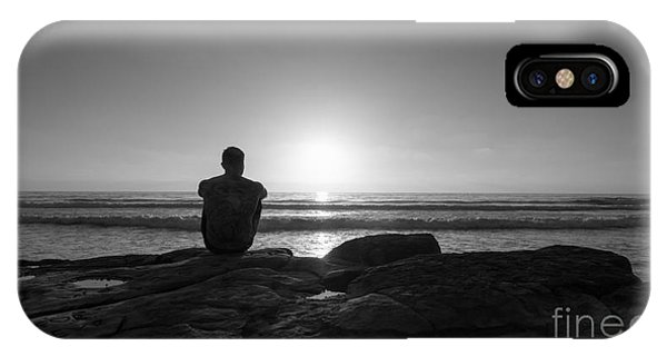 Scripps Pier iPhone Case - The View Wide Crop by Michael Ver Sprill