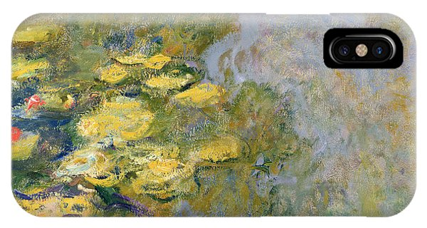 Impressionism iPhone X Case - The Waterlily Pond by Claude Monet