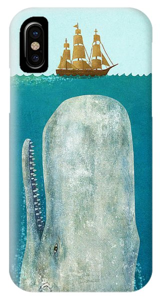 Nautical iPhone Case - The Whale  by Terry  Fan