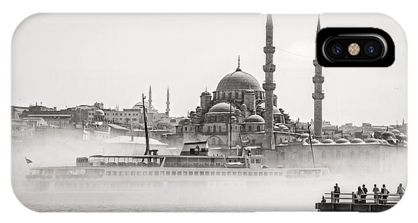 The Yeni Mosque In Fog IPhone Case