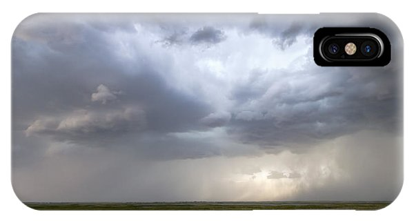 IPhone Case featuring the photograph Thunderstorm Over Cheyenne Bottoms by Rob Graham