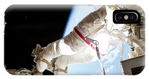 Emu iPhone Case - Tim Kopra's Spacewalk by Nasa