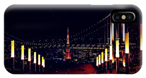 Odaiba iPhone Case - Tokyo Tower At Night by Beverly Claire Kaiya