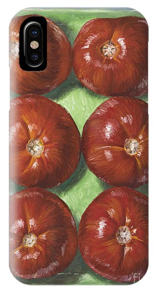Red Fruit iPhone Case - Tomatoes In Green Tray by Jim Zahniser