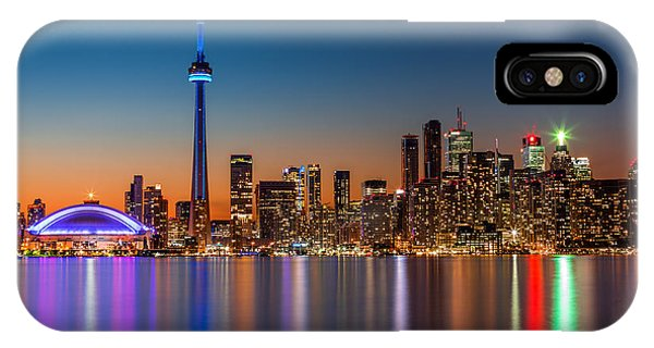 Toronto Skyline At Dusk IPhone Case