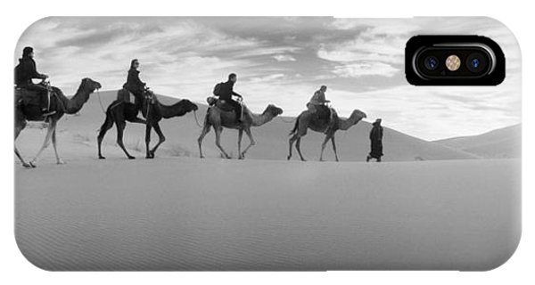 Caravan iPhone Case - Tourists Riding Camels by Panoramic Images