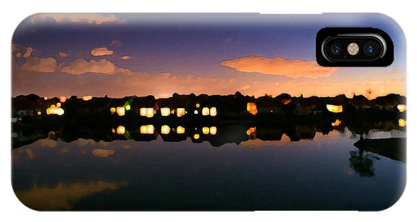 Town In Darkness IPhone Case