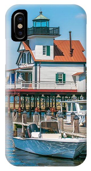 Town Of Edenton Roanoke River Lighthouse In Nc IPhone Case