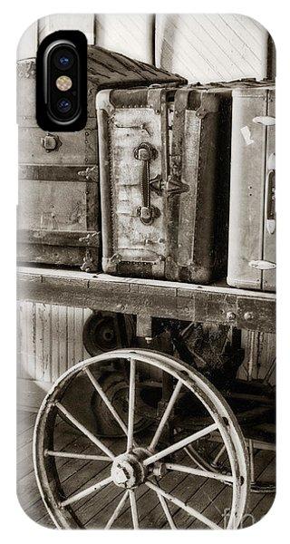Train Station Luggage Cart IPhone Case