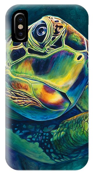 Turtle iPhone X Case - Tranquility by Scott Spillman