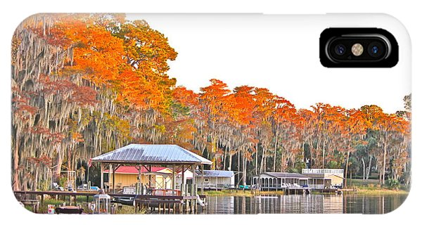 Trees By The Lake IPhone Case