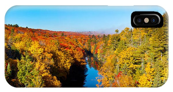 Marquette iPhone Case - Trees In Autumn At Dead River by Panoramic Images