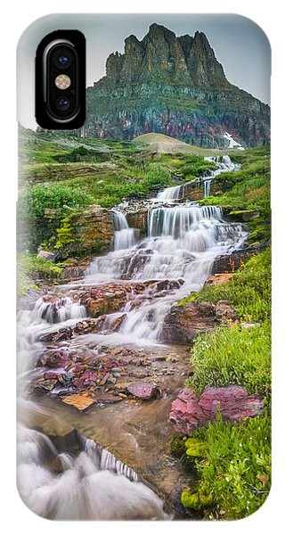 Triple Falls Stream Glacier National Park IPhone Case