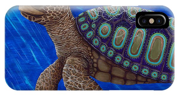 Turtle Painting Bomber Triptych 2 IPhone Case