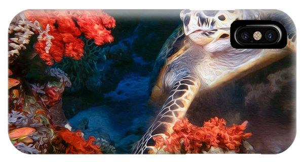 Reef Diving iPhone Case - Turtle by Roy Pedersen