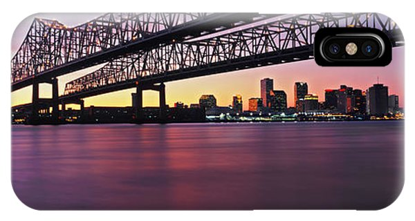 Mississippi River iPhone Case - Twins Bridge Over A River, Crescent by Panoramic Images