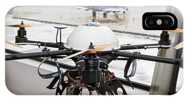Uas iPhone Case - Uav Drone At An Airport by Jim West