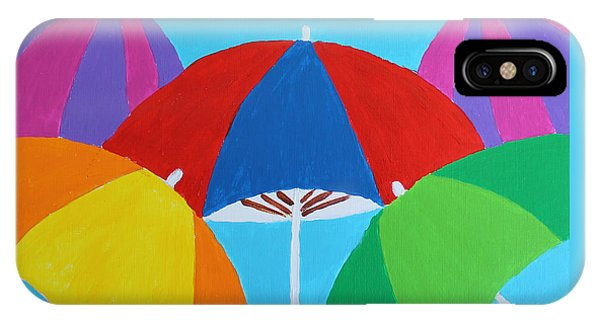 IPhone Case featuring the painting Umbrellas by Deborah Boyd