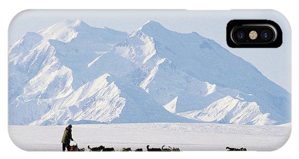 Sled Dog iPhone Case - Usa, Alaska, Sled Dogs, Park Ranger by Gerry Reynolds