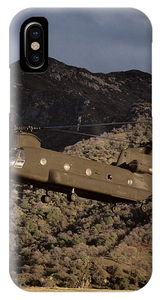 Helicopter iPhone X Case - Usa, California, Chinook Search by Gerry Reynolds