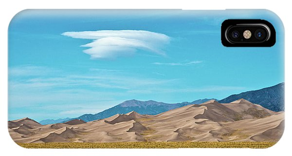 Sangre De Cristo iPhone Case - Usa, Colorado, Alamosa, Great Sand by Bernard Friel