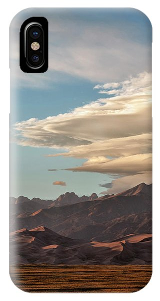 Sangre De Cristo iPhone Case - Usa, Colorado, Great Sand Dunes by Ann Collins