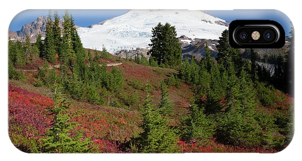 Usa, Washington State, Mount Baker Phone Case by Jamie and Judy Wild