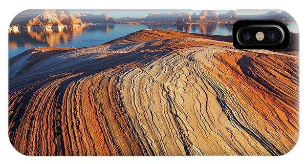 Utah Weathering Pit Ridge At Lake Phone Case by Jaynes Gallery