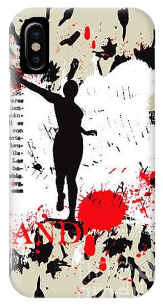 Ink iPhone Case - Vector Grunge Background by Ozger Sarikaya