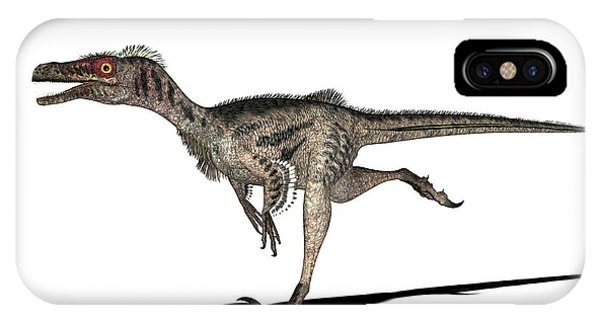 Velociraptor Dinosaur Phone Case by Friedrich Saurer