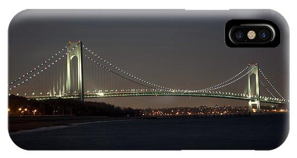 1 Verrazano Narrows Bridge At Twilight IPhone Case