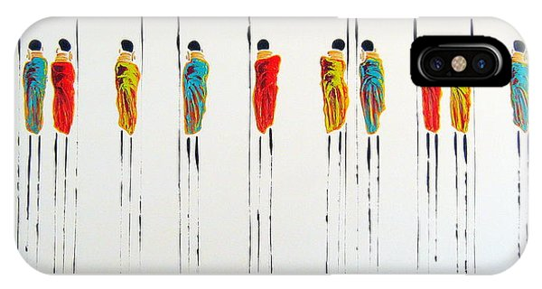 Vibrant Masai Warriors - Original Artwork IPhone Case