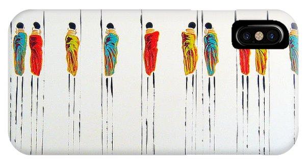 Vibrant Masai Warriors - Original Artwork IPhone Case