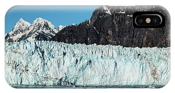 Glacier Bay iPhone Case - View Of Margerie Glacier In Glacier Bay by Panoramic Images