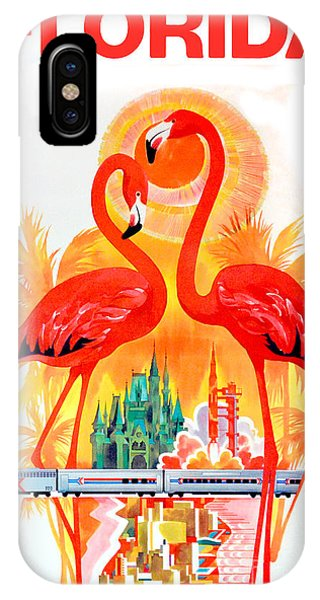 Vintage Florida Travel Poster IPhone Case