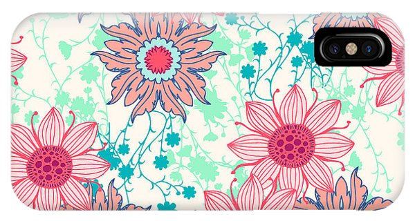 Bouquet iPhone Case - Vintage Flower Pattern Print For by Studio K