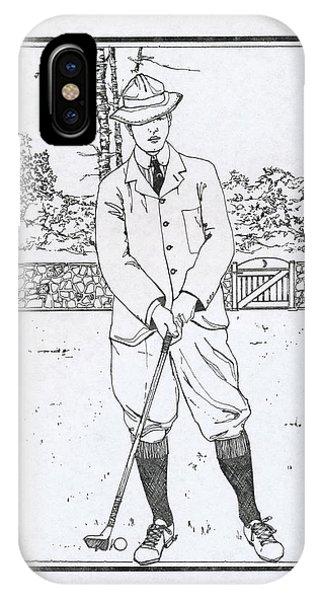 Vintage Golfer IPhone Case