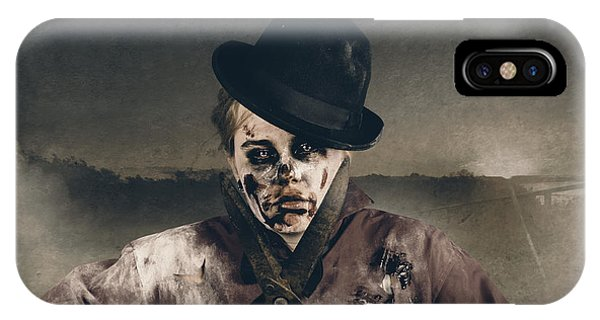 Cunning iPhone X Case - Vintage Horror. Dawn Of The Dead Hedge by Jorgo Photography - Wall Art Gallery
