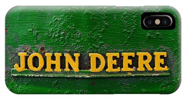 Farm Tool iPhone Case - Vintage John Deere Tractor by Paul Ward