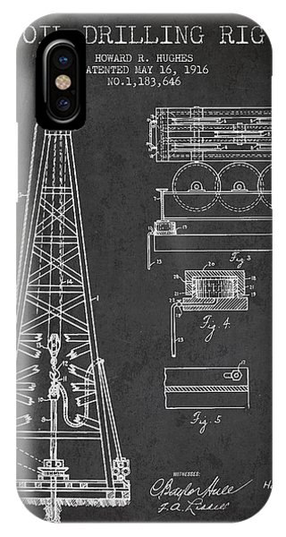 Inventor iPhone Case - Vintage Oil Drilling Rig Patent From 1916 by Aged Pixel