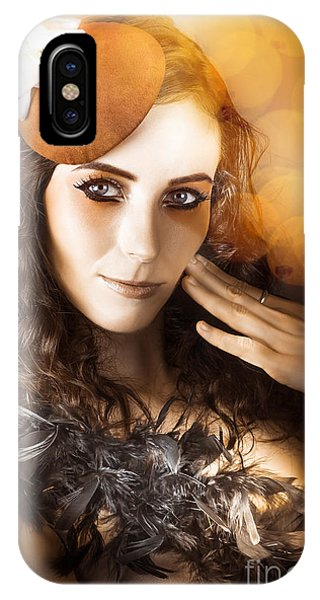 Leading Actress iPhone Case - Vintage Style Actress Performing In French Beret by Jorgo Photography - Wall Art Gallery