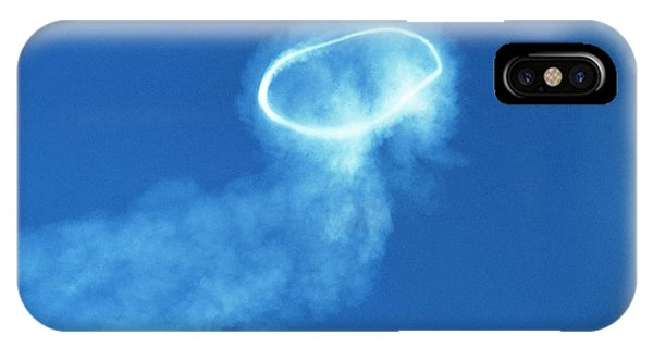 Mt Etna iPhone Case - Volcanic Steam Ring by Jeremy Bishop/science Photo Library