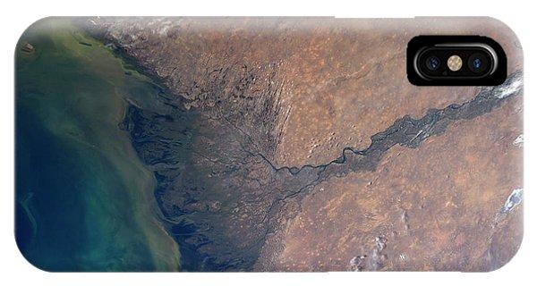 Delta iPhone Case - Volga River Delta by Nasa