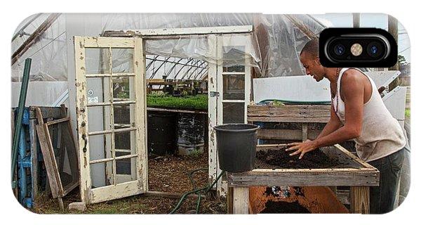 Katrina iPhone Case - Volunteer At An Urban Farm by Jim West