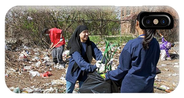 Altruism iPhone Case - Volunteers Clearing Rubbish by Jim West
